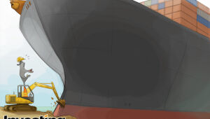 CHARGE: Encalhe de navio em Suez pode ser estopim para retrocesso da globalização?
