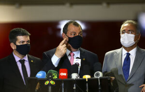 CPI da Covid - Randolfe, Aziz e Renan