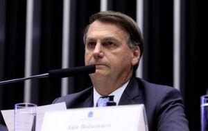 O presidente Jair Bolsonaro em Sessão Solene destinada à inauguração da 3ª Sessão Legislativa Ordinária da 56ª Legislatura