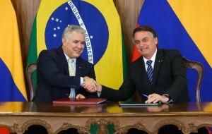 Ivan Duque e Jair Bolsonaro