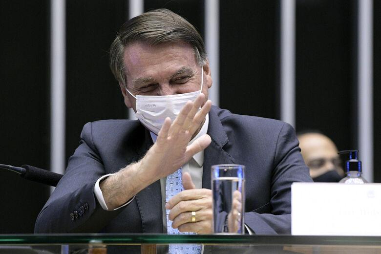 Presidente Jair Bolsonaro no Plenário da Câmara dos Deputados durante sessão solene do Congresso Nacional