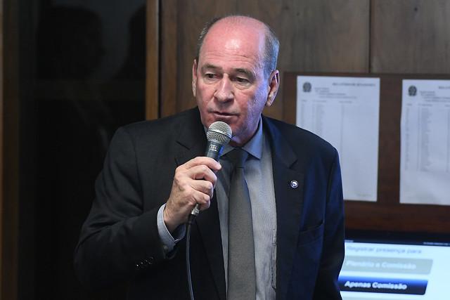 O ex-ministro da Defesa, general Fernando Azevedo e Silva, em pronunciamento em 21 de novembro de 2019 na audiência pública da CRE.