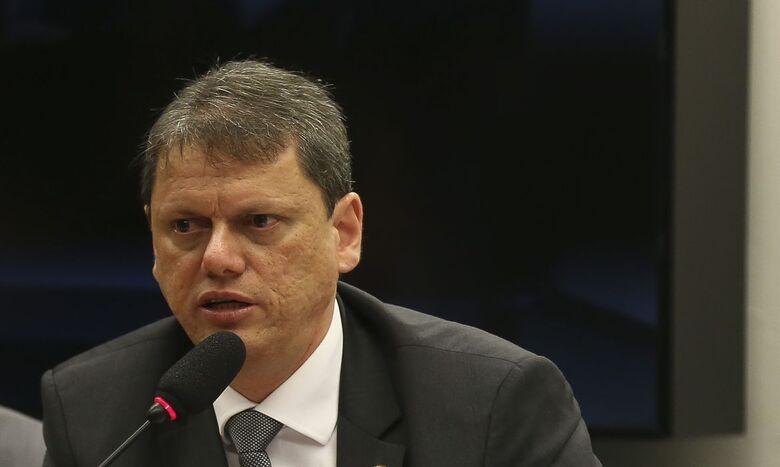 O ministro de Infraestrutura, Tarcísio Gomes de Freitas