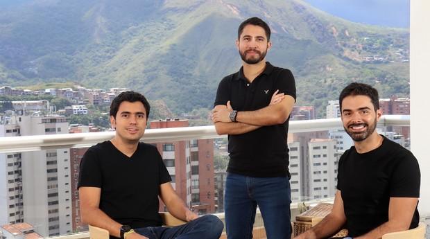 Santiago Suarez, Daniel Vallejo e Elmer Ortega, fundadores da ADDI