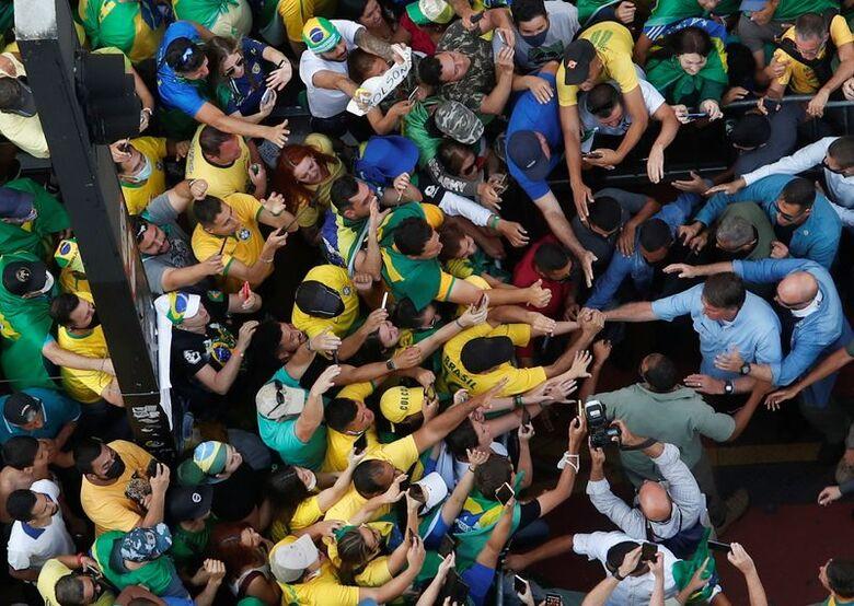 Jair Bolsonaro em São Paulo durante manifestação de 7 de setembro