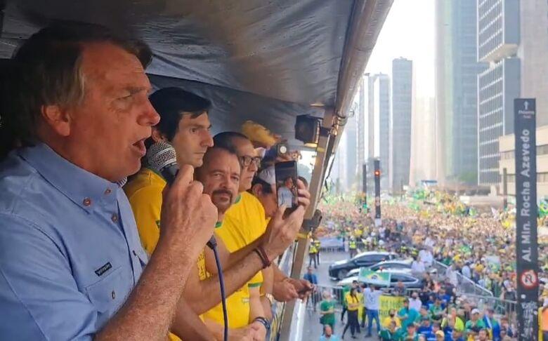 Bolsonaro discursa na Avenida Paulista durante 7 de setembro