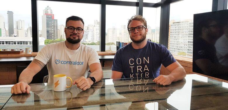Bruno Doneda, CEO, e Henrique Flores, CPO da Contraktor
