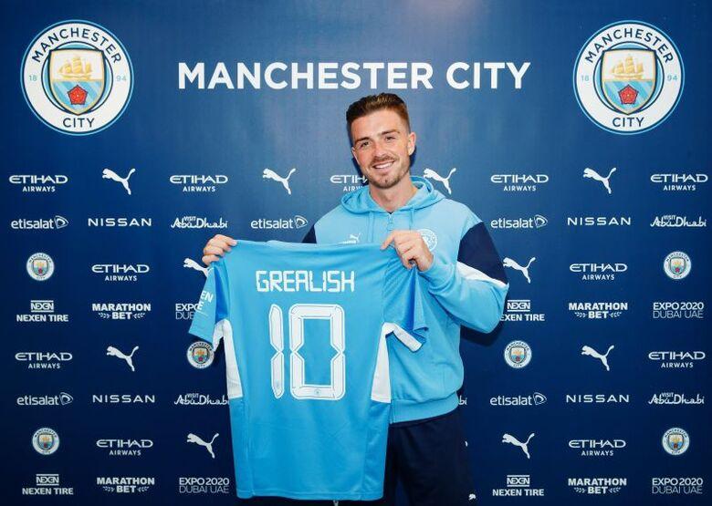 Jack Grealish é apresentado no Manchester City