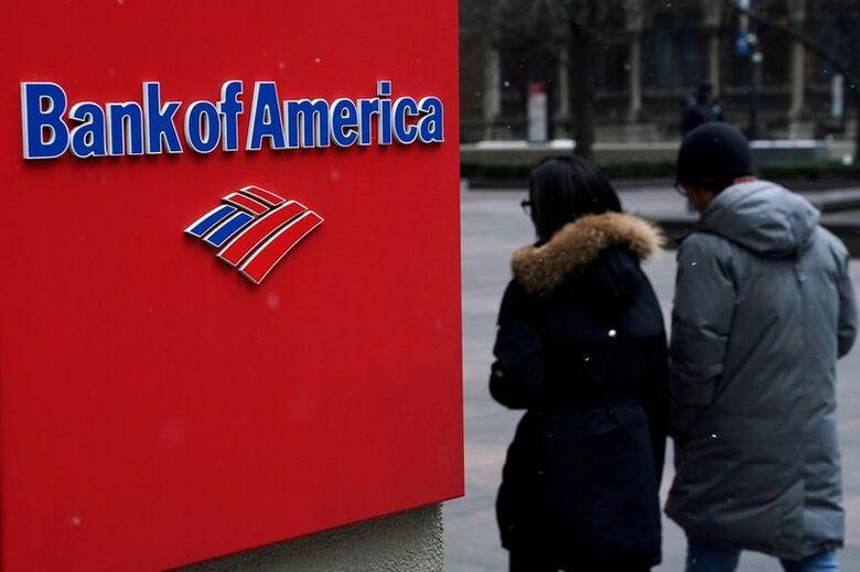 Reuters. Logo do Bank of America, em Manhattan, Nova York REUTERS/Carlo Allegri