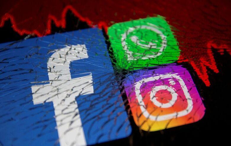 Reuters. Logos de Facebook, Whatsapp e Instagram, 4/10/2021
