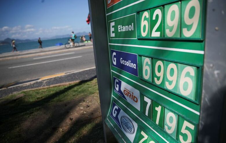 Preço da gasolina, em Copacabana